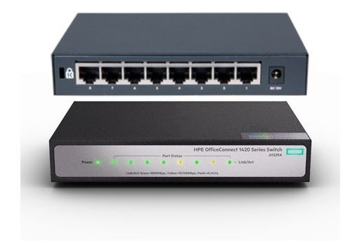 Switch HP no adm 1420 8g Poe+ ( 64W )